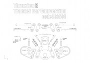 Fat bar conversion kit for Triumph Thruxton R