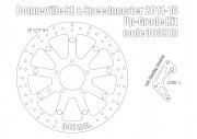 Triumph Speedmaster 2011-16 & Bonneville SE - Upgrade floating front brake rotor kit