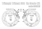 Bolt-in Upgrade braking kit for Triumph Trident 660 (4p. gold calipers & rotors diam. 320 mm)