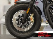 Bolt-in Upgrade braking kit for Triumph Thruxton 1200 Std, Speedmaster & Bobber Black (4p. calipers & rotors diam. 340 mm)