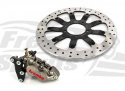 Bolt-in Upgrade braking kit for Triumph Bobber, Street Scrambler & Bonneville T100 (4p. caliper & rotor diam. 340 mm)