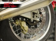 Triumph Thruxton 1200 rear Up Grade Floating Rotor and 4pot Caliper kit