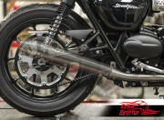 Belt drive conversion for Triumph Street Twin, Street Cup & Bonneville T100 (Silver)
