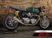 Belt drive conversion for Triumph Thruxton 1200