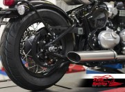 Belt drive conversion for Triumph Bobber