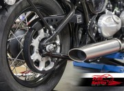 Belt drive conversion for Triumph Bobber (Silver)