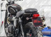 Undertray & license plate (Lucas E11) for Triumph Street Twin/Cup/Scrambler & Bonnevile T100/T120 2016 up