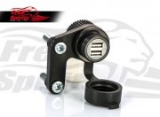 12V USB Power point for Triumph New Classic (Black)