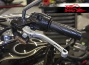 Brake lever & clutch lever reclining and adjustable for Triumph (Silver)