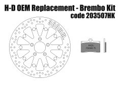 Harley Davidson OEM Replacement front brake rotor 300mm & pads for Brembo kits