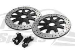 Harley Davidson Sportster dual disc 04-13 - Brake rotors kit (320 mm) & pads