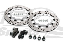 Harley Davidson Touring 2014 up - Brake rotors kit (Chrome) 320 mm & pads