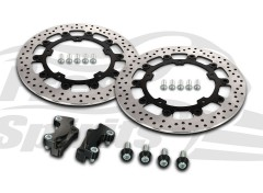 Harley Davidson Touring 2014 up - Brake rotors kit (Black) 320 mm & pads