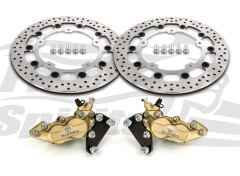 Harley Davidson Touring 2014 up - Bolt-in kit with 4p. calipers & rotors 320 mm - KIT
