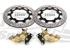 Harley Davidson Touring 2014 up - Bolt-in kit with 4p. calipers (Gold) & rotors 320 mm