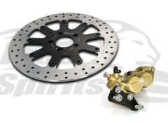 "Harley Davidson Sportster with 21"" Wheel - Bolt-in kit with 4p. (Gold) caliper & rotor 320 mm"