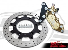 Front brake caliper 4 pot for Triumph Thruxton (865 cc)