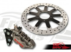 Triumph Street Twin & Street Cup Front Upgrade Floating Rotor and 4pot Caliper kit (titanium)