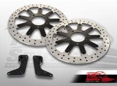 Triumph Bonneville T120 & Thruxton 1200 Standard Up-grade floating front brake Rotors kit