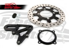 Triumph Street Scrambler & Bonneville T100/T120 - Upgrade Floating rear Brake Rotor & Pads kit
