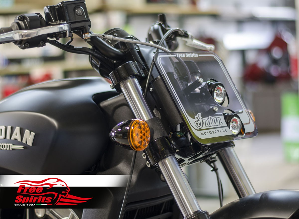 Headlight Mask For Indian Scout