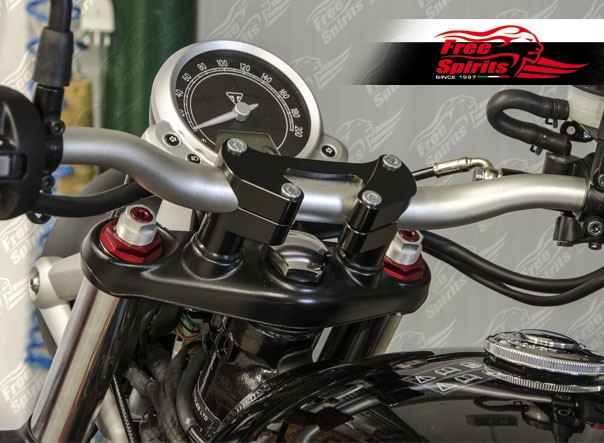 "Triumph Cafe Racer >> Risers Oversize (28.6 mm - 1 1/8"") for Triumph Speed ..."