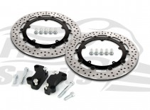 203706 Free Spirits HD Dyna dual disc 320 mm. brake rotors kit