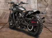Support immatriculation latéral pour Indian Scout