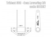Rear suspension lowering kit (-20 mm) for Triumph Trident 660