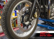 Kit frenage avant 4 pistons pour Triumph Thruxton