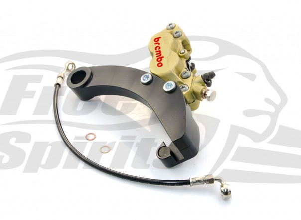 Brembo caliper 4 pot rear bracket for Harley Davidson Dyna 06 up