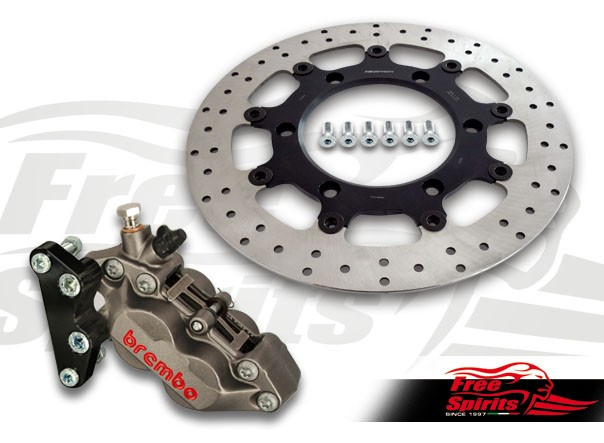 Front brake caliper 4 pot for Triumph America (Titanium)