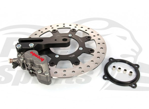 Rear bracket & 4 pot brake caliper for Triumph Classic