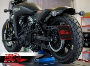 Soporte matricula lateral para Indian Scout