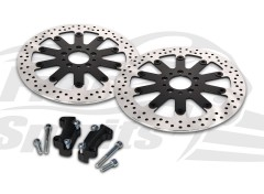 Harley Davidson 2000-2007 - Kit discos de freno 320 mm y pastillas